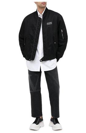 Мужские замшевые кроссовки ALEXANDER MCQUEEN черного цвета, арт. 627225/WHW57 | Фото 2