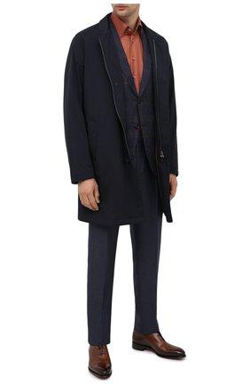 Мужская сорочка из кашемира и шелка ZILLI красного цвета, арт. MFU-00503-87060/0001   Фото 2
