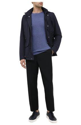 Мужской джемпер из шерсти и кашемира DANIELE FIESOLI синего цвета, арт. DF 3015 | Фото 2