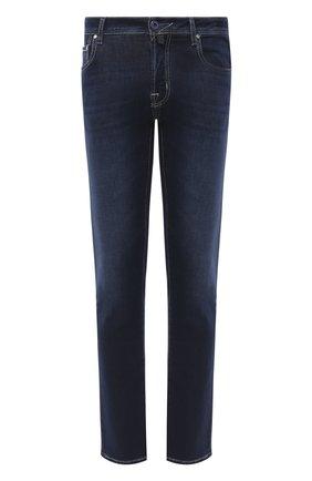 Мужские джинсы JACOB COHEN темно-синего цвета, арт. J688 C0MF 02050-W1/54 | Фото 1