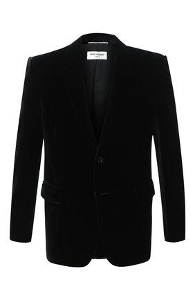 Мужской пиджак SAINT LAURENT черного цвета, арт. 633013/Y525R | Фото 1