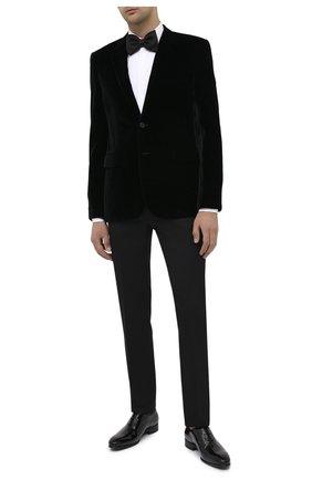Мужской пиджак SAINT LAURENT черного цвета, арт. 633013/Y525R | Фото 2