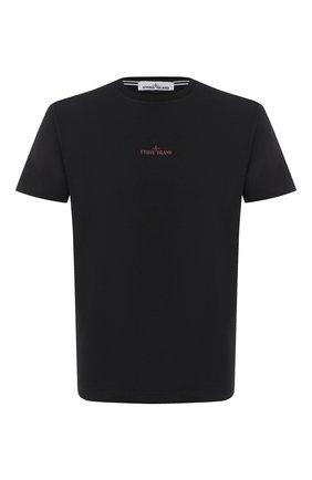 Мужская хлопковая футболка STONE ISLAND черного цвета, арт. 73152NS81 | Фото 1