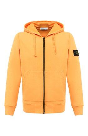 Мужская хлопковая толстовка STONE ISLAND оранжевого цвета, арт. 731564220 | Фото 1