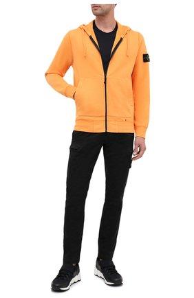 Мужская хлопковая толстовка STONE ISLAND оранжевого цвета, арт. 731564220 | Фото 2