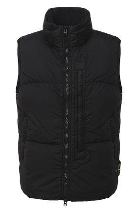 Мужской пуховый жилет STONE ISLAND черного цвета, арт. 7315G0123 | Фото 1