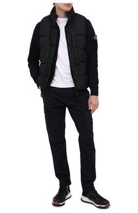 Мужской пуховый жилет STONE ISLAND черного цвета, арт. 7315G0123 | Фото 2