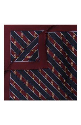 Мужской шелковый платок GUCCI бордового цвета, арт. 630520/4G001 | Фото 1