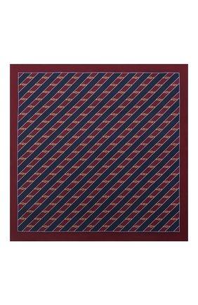 Мужской шелковый платок GUCCI бордового цвета, арт. 630520/4G001 | Фото 3