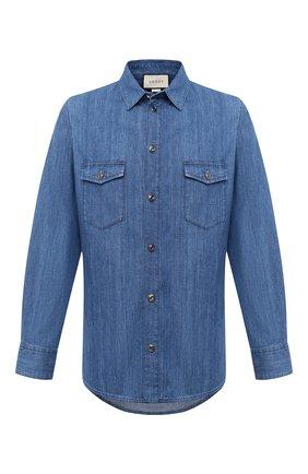 Мужская джинсовая рубашка GUCCI синего цвета, арт. 626514/XDBBL | Фото 1