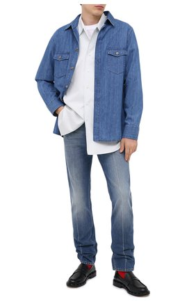 Мужская джинсовая рубашка GUCCI синего цвета, арт. 626514/XDBBL | Фото 2