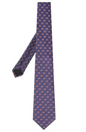 Мужской шелковый галстук GUCCI синего цвета, арт. 625461/4E002 | Фото 2