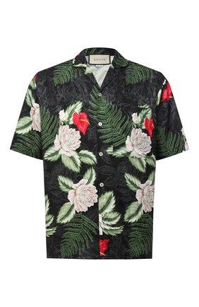 Мужская рубашка из вискозы и шелка GUCCI разноцветного цвета, арт. 624524/ZAEMQ | Фото 1