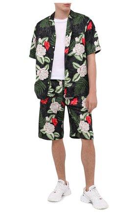 Мужская рубашка из вискозы и шелка GUCCI разноцветного цвета, арт. 624524/ZAEMQ | Фото 2