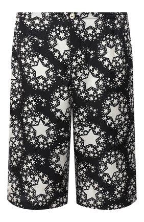 Мужские шелковые шорты GUCCI черно-белого цвета, арт. 624399/ZAENN | Фото 1