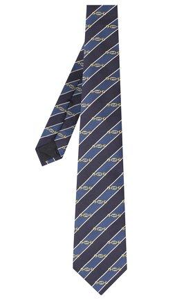Мужской шелковый галстук GUCCI синего цвета, арт. 624077/4E002 | Фото 2