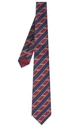 Мужской шелковый галстук GUCCI бордового цвета, арт. 624077/4E002 | Фото 2