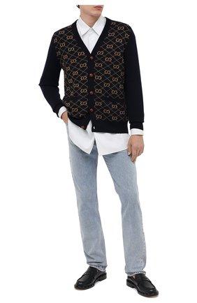 Мужские джинсы GUCCI голубого цвета, арт. 623953/XDBCB | Фото 2