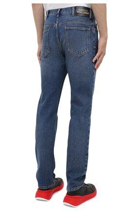 Мужские джинсы GUCCI синего цвета, арт. 623953/XDBBQ | Фото 4