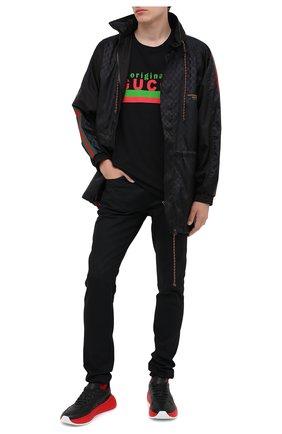Мужская куртка GUCCI черного цвета, арт. 618891/ZAENY | Фото 2