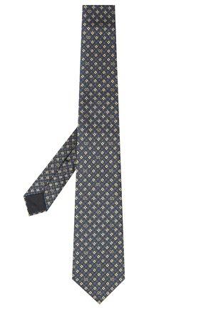 Мужской шелковый галстук GUCCI синего цвета, арт. 597126/4E002 | Фото 2
