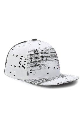 Мужской хлопковая бейсболка HUGO черно-белого цвета, арт. 50431848 | Фото 1