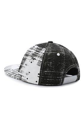 Мужской хлопковая бейсболка HUGO черно-белого цвета, арт. 50431848 | Фото 2