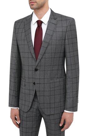 Мужской шерстяной костюм BOSS темно-серого цвета, арт. 50438427 | Фото 2