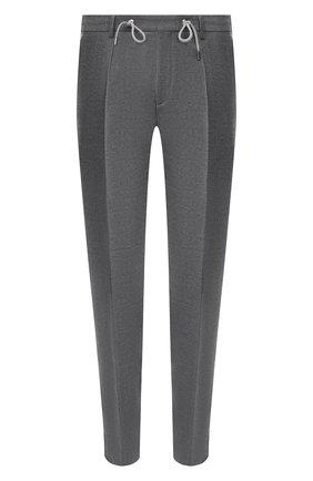 Мужской шерстяные брюки BOSS серого цвета, арт. 50440817   Фото 1