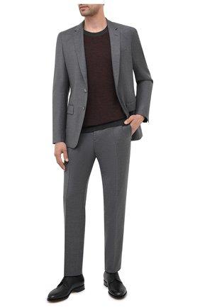 Мужской шерстяные брюки BOSS серого цвета, арт. 50440817   Фото 2