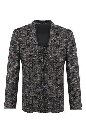 Мужской пиджак BOSS серого цвета, арт. 50439372 | Фото 1