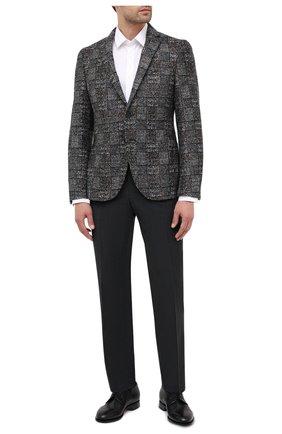 Мужской пиджак BOSS серого цвета, арт. 50439372 | Фото 2