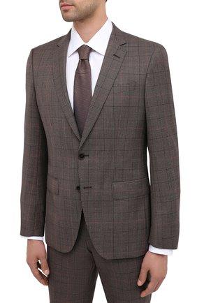 Мужской шерстяной костюм BOSS коричневого цвета, арт. 50438567 | Фото 2