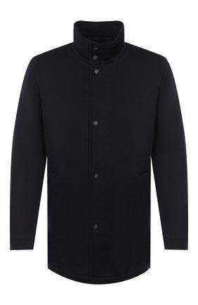 Мужской шерстяное пальто BOSS темно-синего цвета, арт. 50438924 | Фото 1
