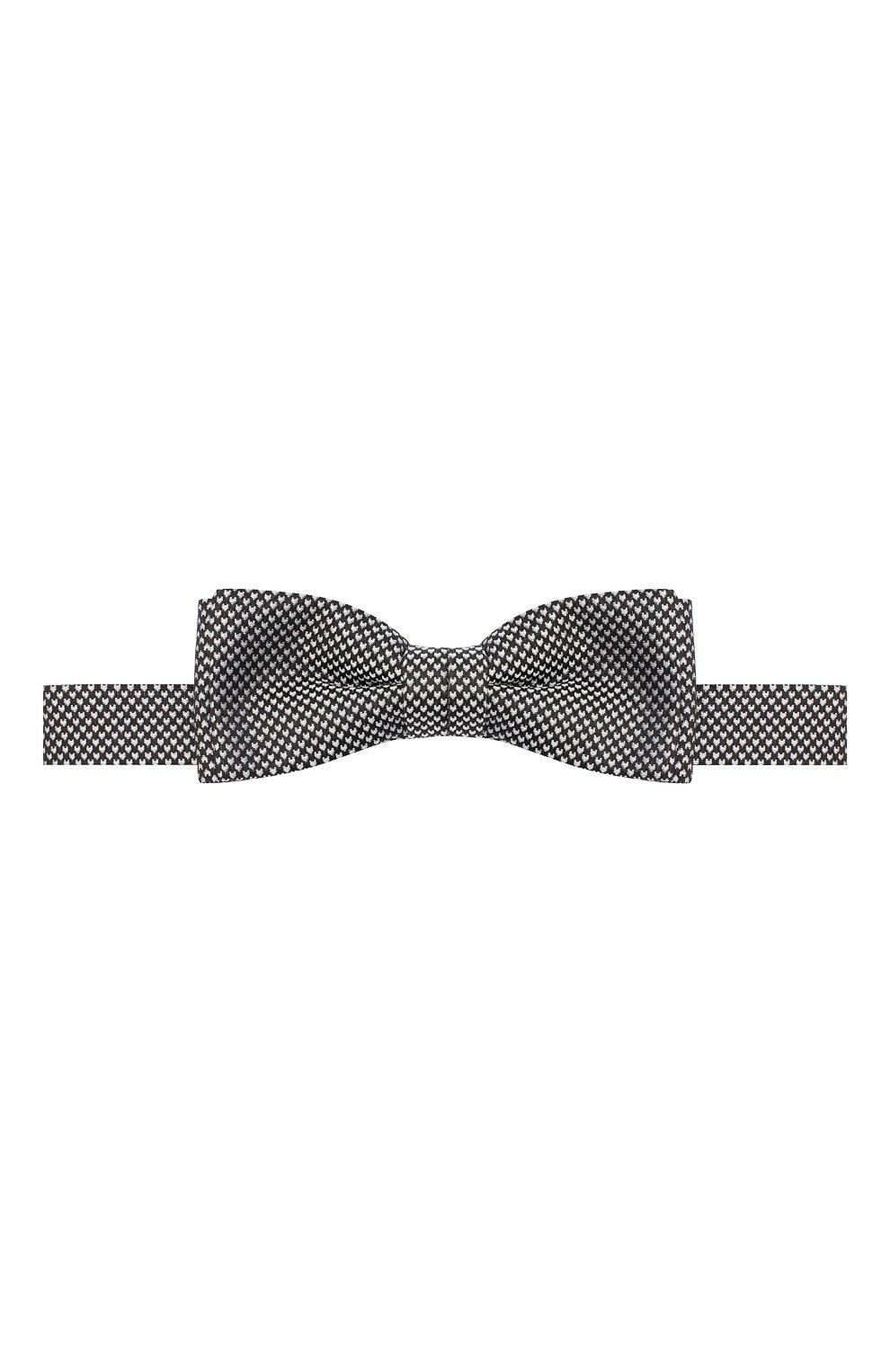 Мужской шелковый галстук-бабочка BOSS черно-белого цвета, арт. 50441952 | Фото 1