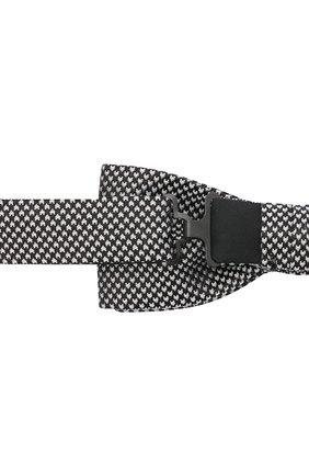 Мужской шелковый галстук-бабочка BOSS черно-белого цвета, арт. 50441952 | Фото 3