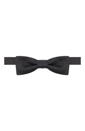 Мужской шелковый галстук-бабочка BOSS черного цвета, арт. 50442102 | Фото 1