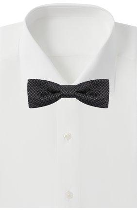 Мужской шелковый галстук-бабочка BOSS черного цвета, арт. 50442102 | Фото 2