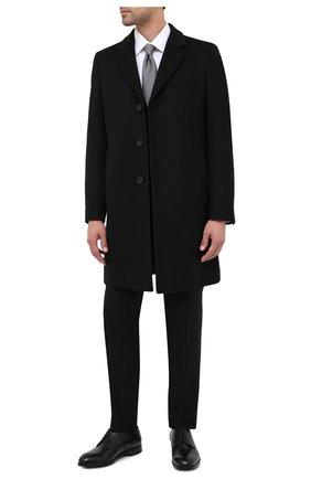 Мужской пальто из шерсти и кашемира BOSS черного цвета, арт. 50438689   Фото 2