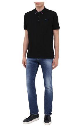 Мужское хлопковое поло HUGO черного цвета, арт. 50431447 | Фото 2