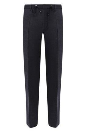 Мужской хлопковые брюки BOSS темно-синего цвета, арт. 50440818 | Фото 1