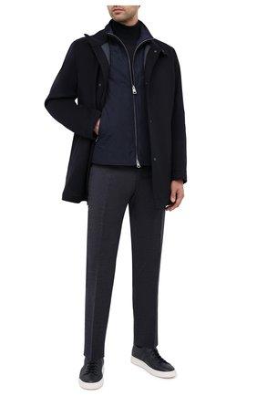 Мужской хлопковые брюки BOSS темно-синего цвета, арт. 50440818 | Фото 2