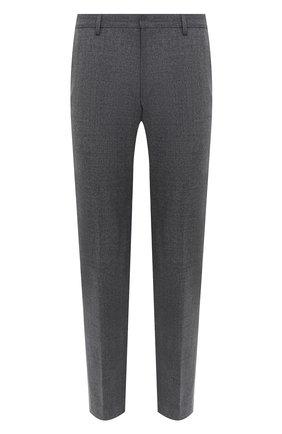 Мужской шерстяные брюки BOSS серого цвета, арт. 50438300 | Фото 1