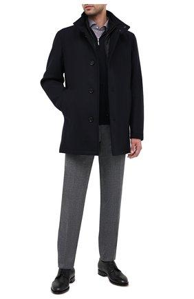 Мужской шерстяные брюки BOSS серого цвета, арт. 50438300 | Фото 2