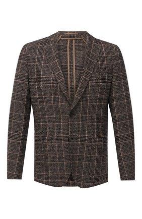 Мужской пиджак BOSS коричневого цвета, арт. 50438488 | Фото 1