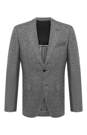 Мужской пиджак BOSS серого цвета, арт. 50438379   Фото 1