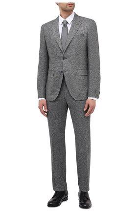 Мужской пиджак BOSS серого цвета, арт. 50438379   Фото 2