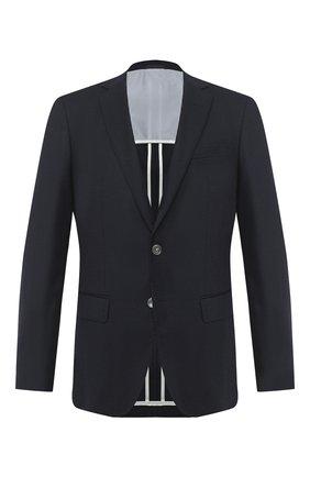 Мужской шерстяной пиджак BOSS темно-синего цвета, арт. 50438515   Фото 1