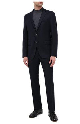 Мужской шерстяной пиджак BOSS темно-синего цвета, арт. 50438515   Фото 2