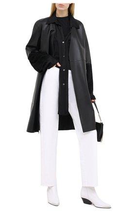 Женские кожаные ботильоны SERGIO ROSSI белого цвета, арт. A85970-MNAN07 | Фото 2